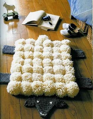 Alfombra de pompones el hogar de las lanas - Alfombra oveja ...