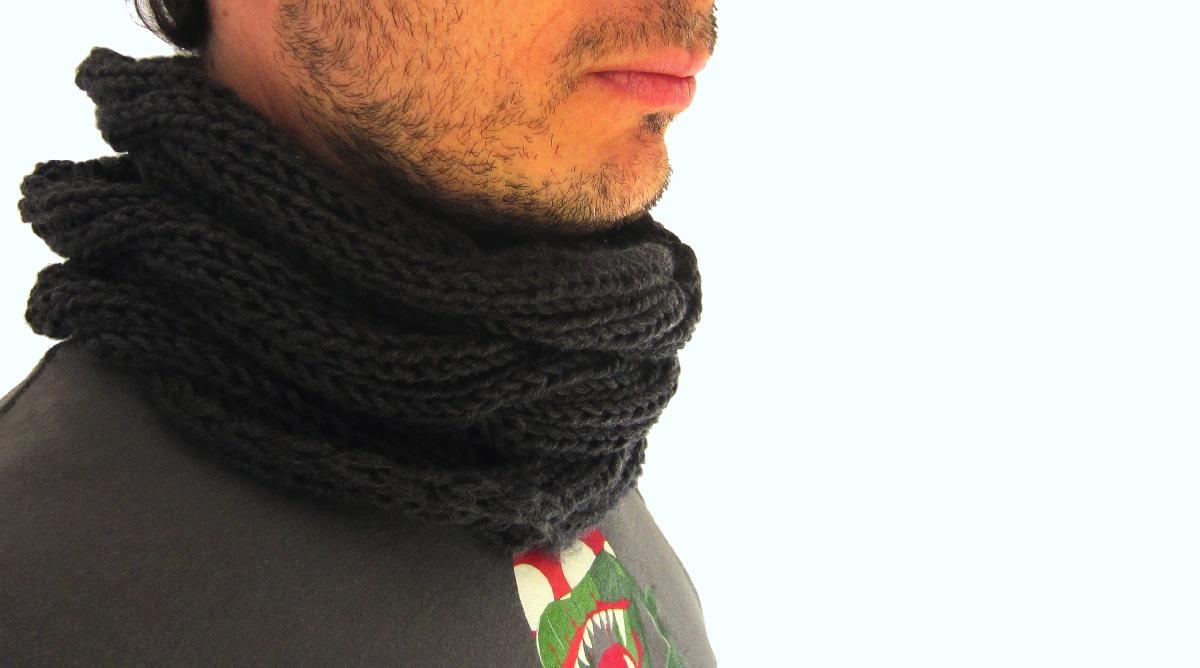 Patrón para cuello de lana  7a085cd3ff71