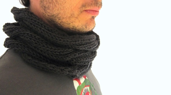 Cuello lana chico gris