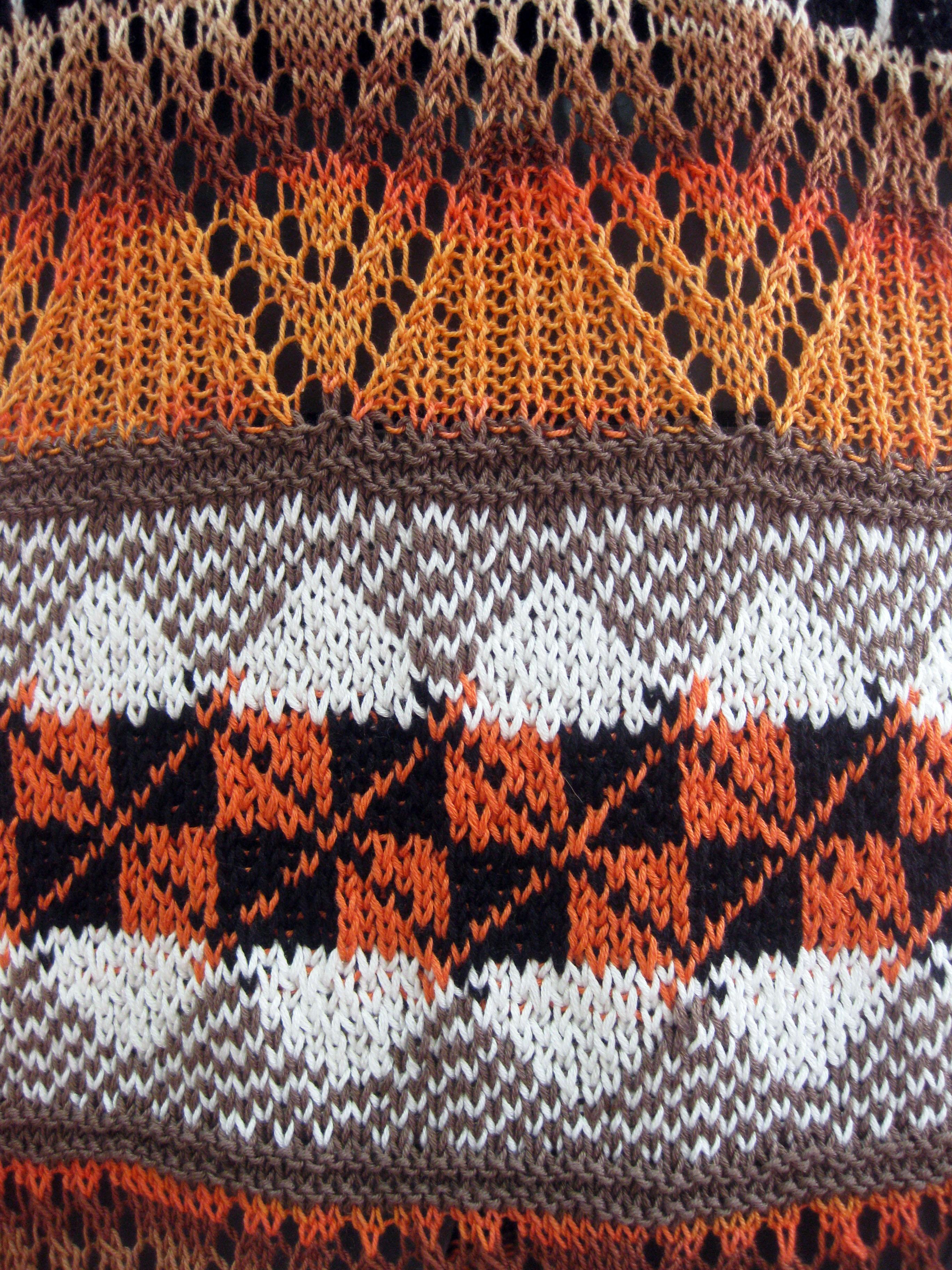 Vestido de verano tejido a mano el hogar de las lanas - Que es jacquard ...