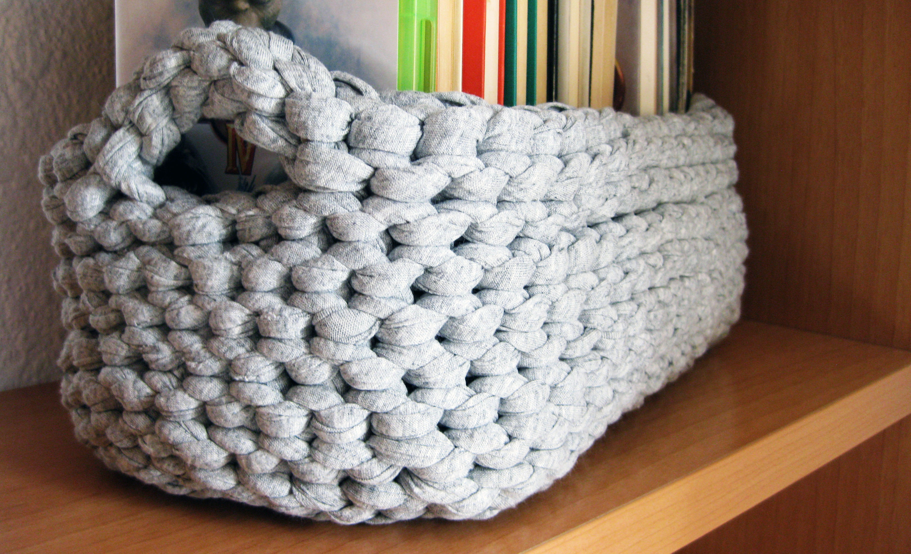 Cestas de trapillo con patrón | El Hogar de las lanas