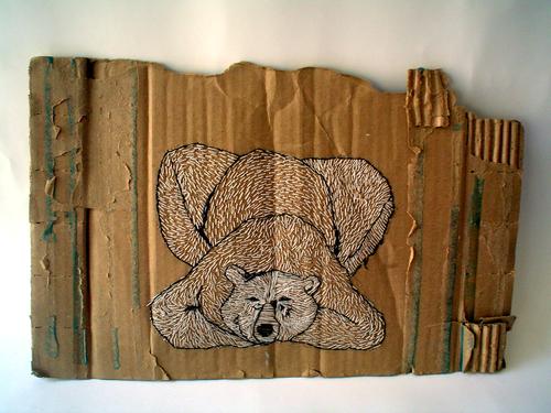 Bordado sobre cartón