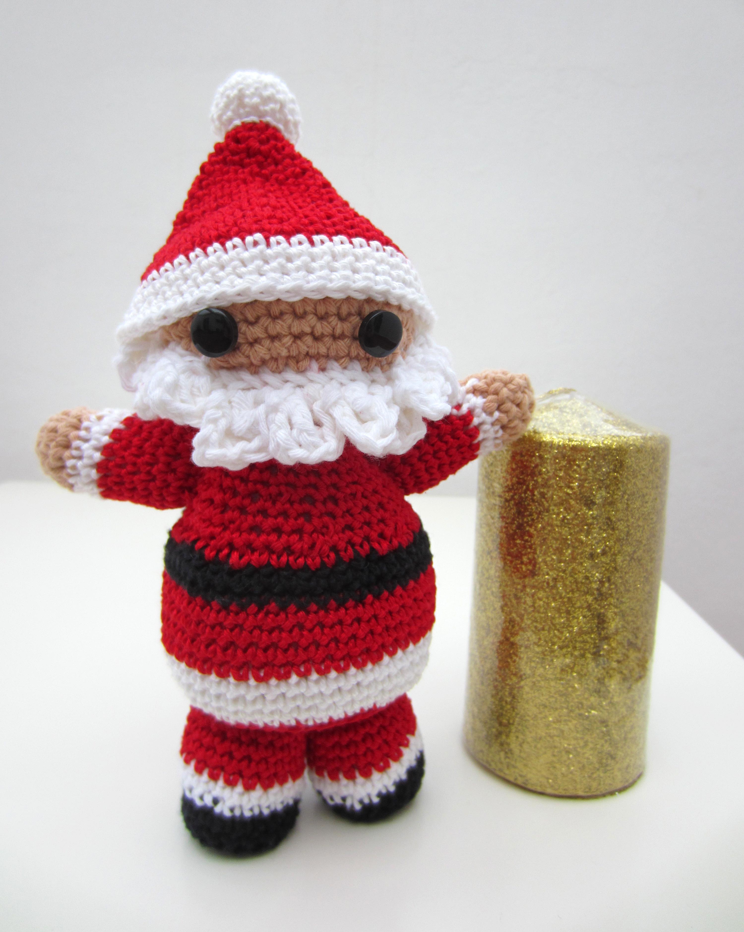 Amigurumi para Navidad, Papa Noel El Hogar de las lanas