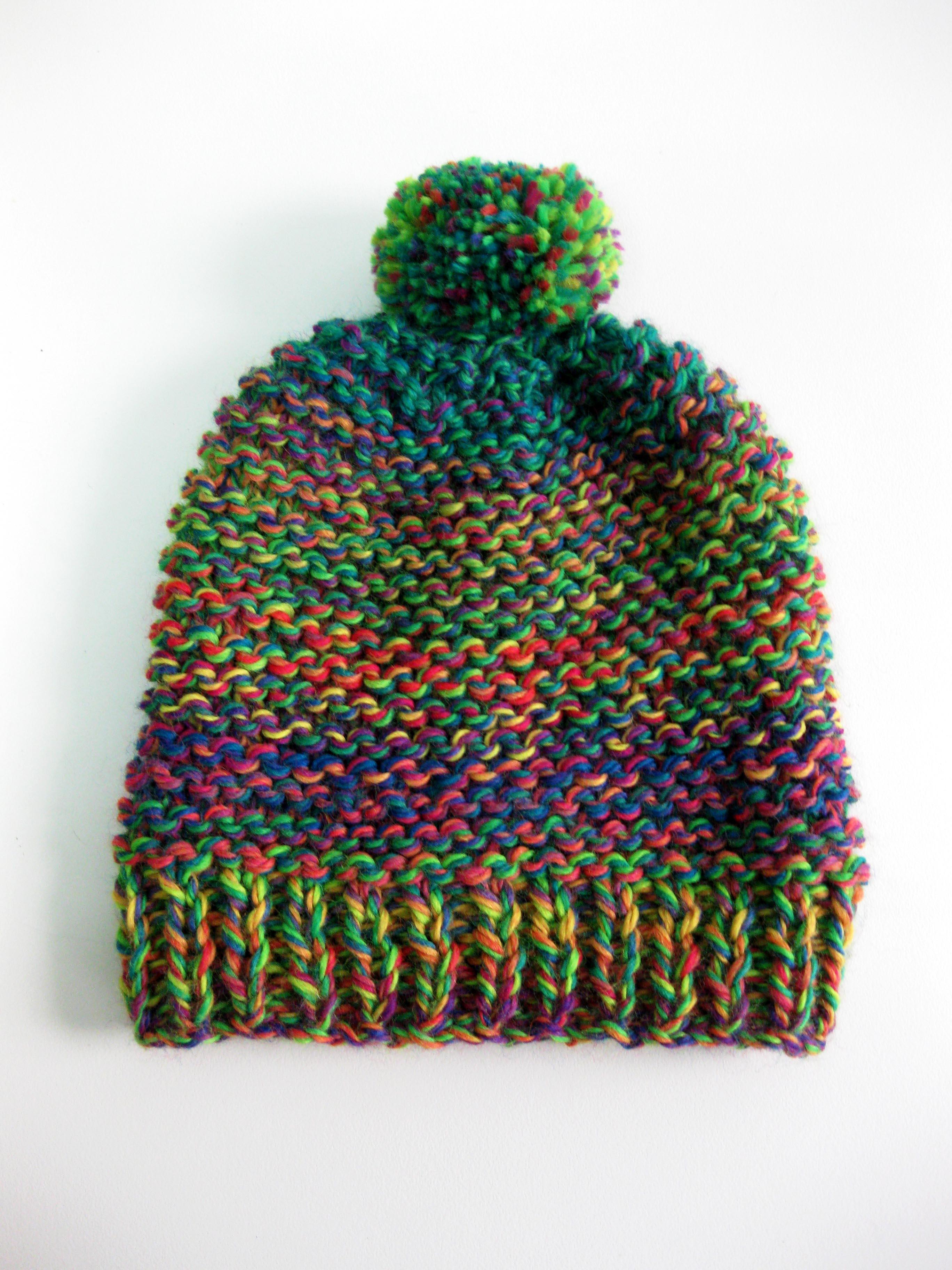 Patrones para tejer gorros de lana | El Hogar de las lanas