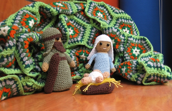 Jesús, María y José Ganchillo