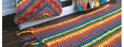 Trapillo big ribbon el hogar de las lanas - Como hacer alfombras de trapillo redondas ...