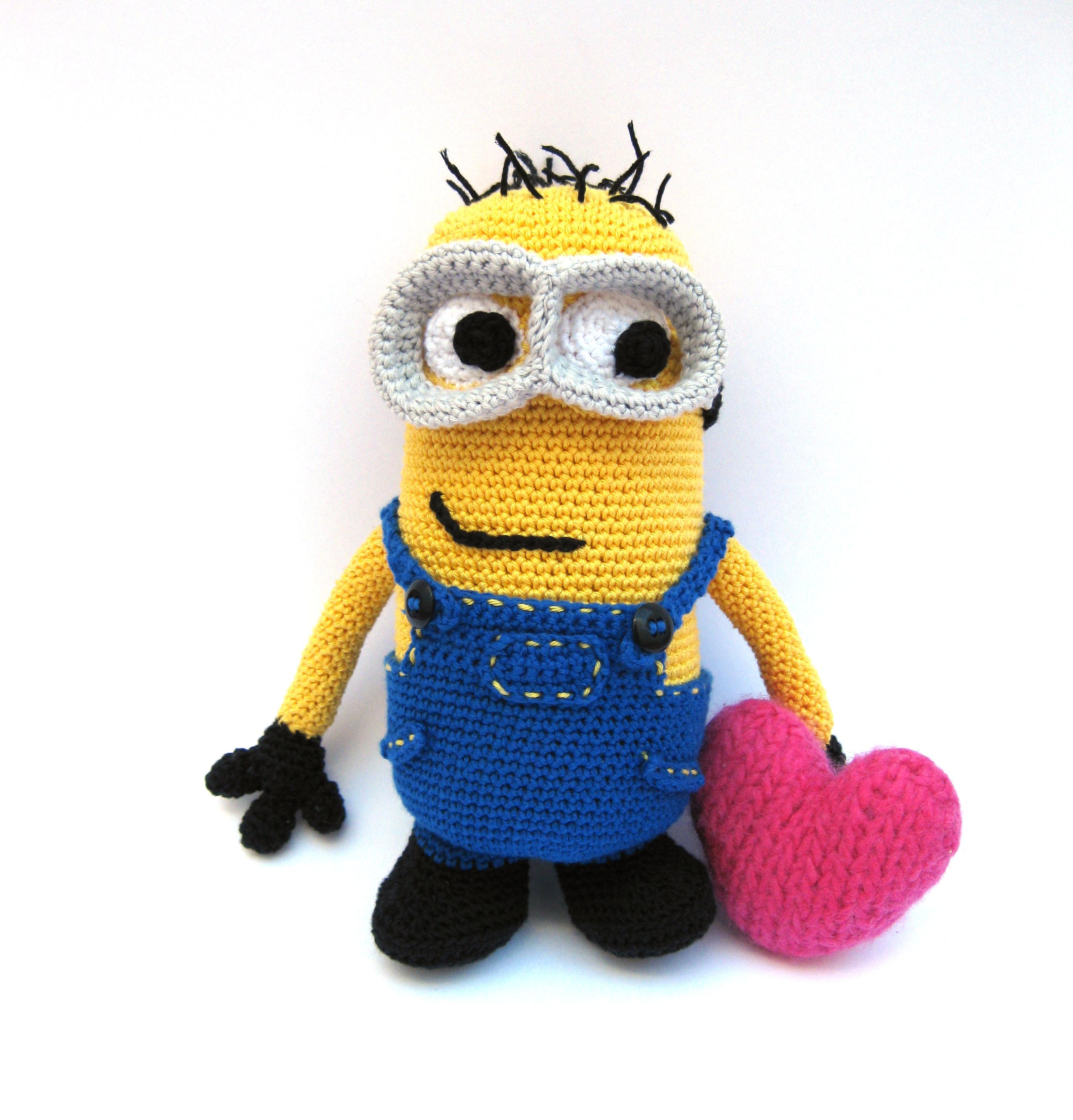 Amigurumi Minion Grande : Patron Amigurumi para tejer un Minion El Hogar de las lanas
