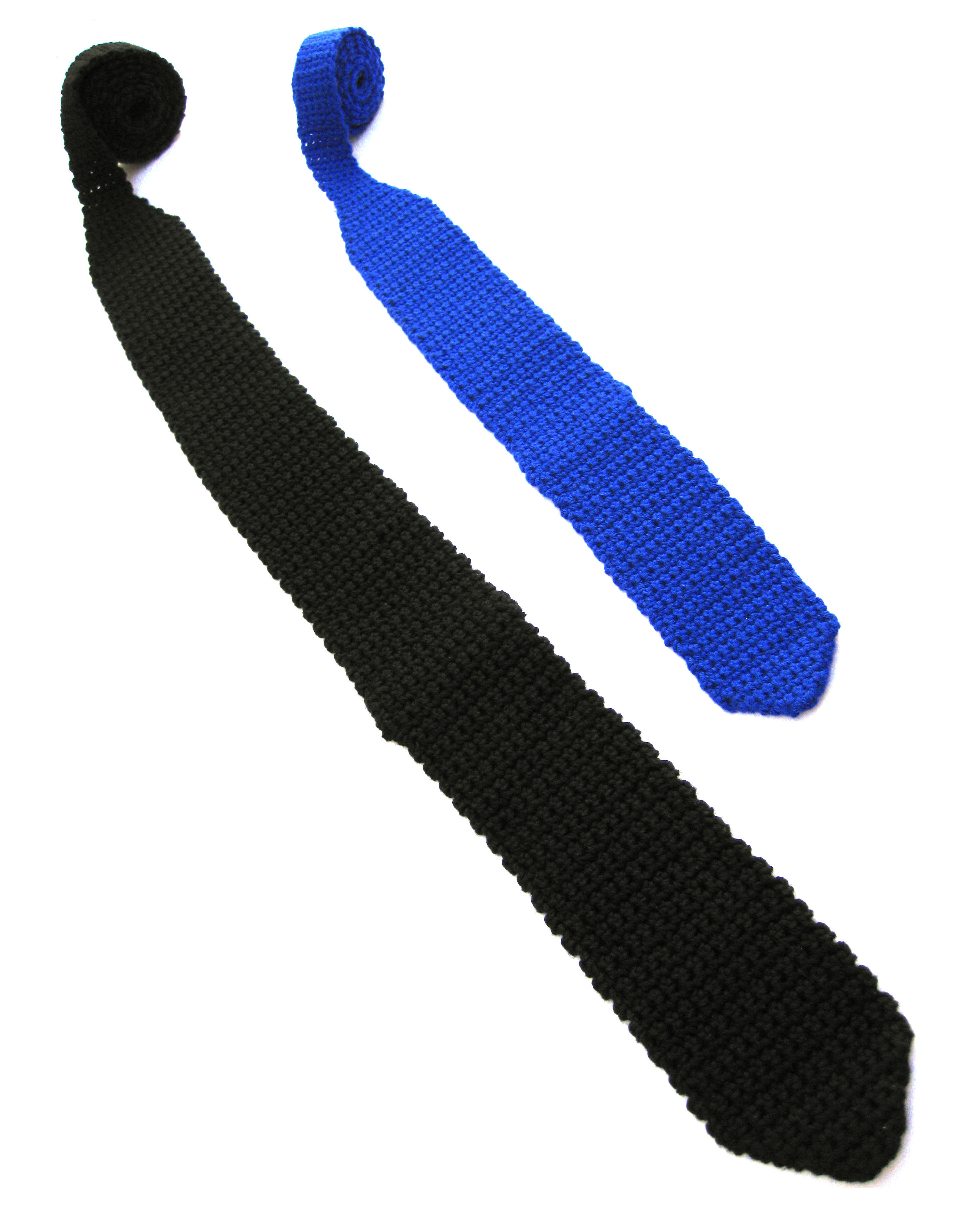 Patrón Corbatas a Crochet | El Hogar de las lanas