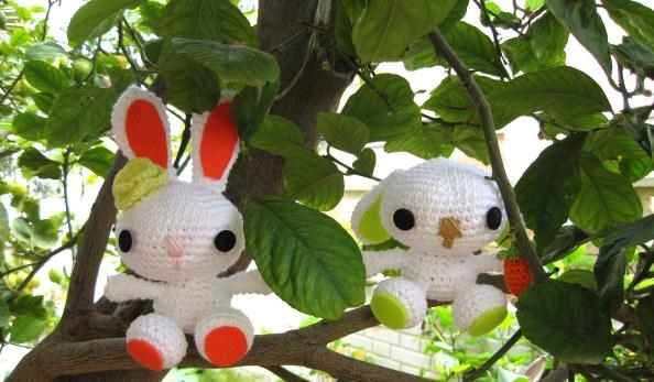 Conejos ganchillo