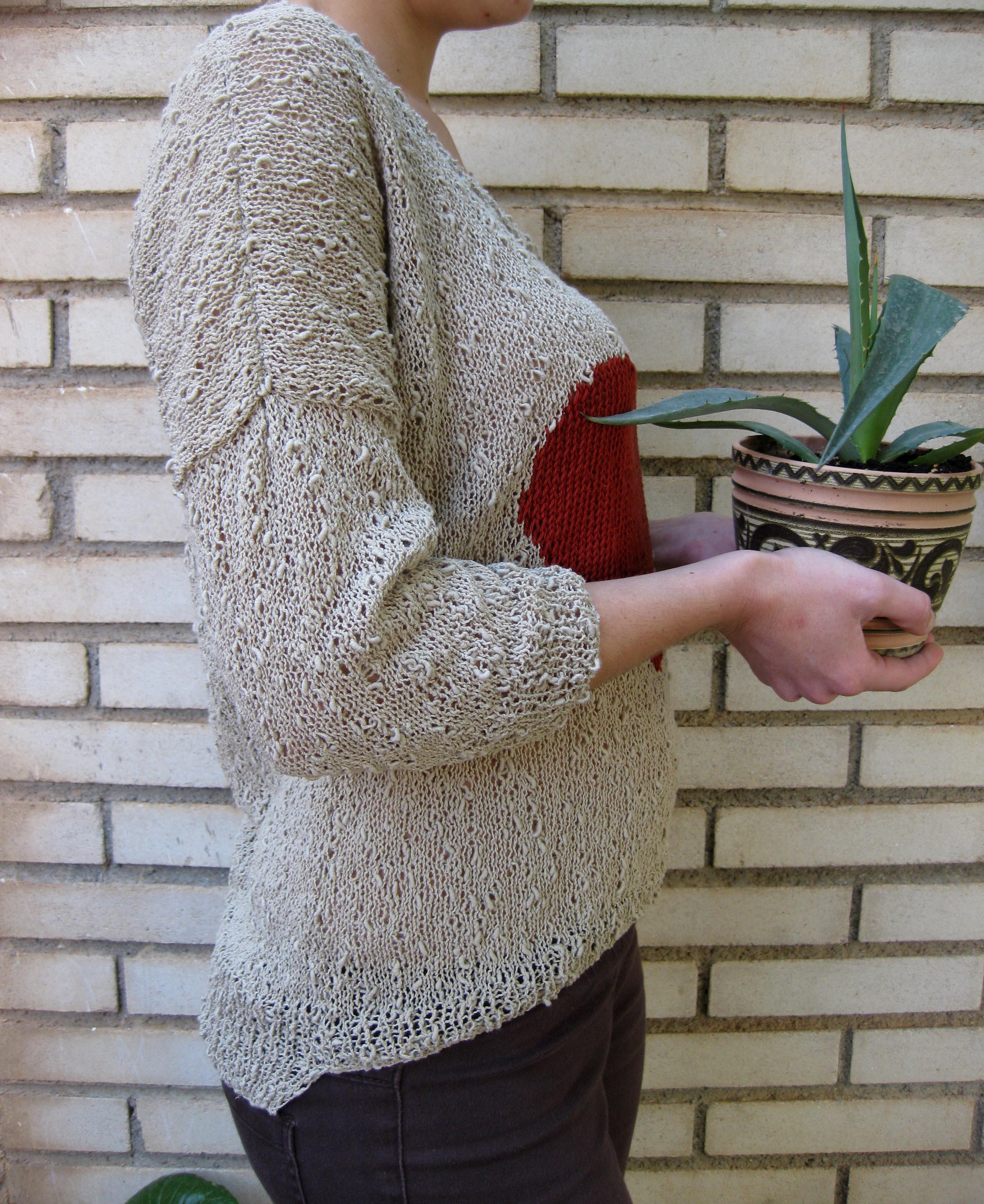 Jersey de primavera con patrón   El Hogar de las lanas