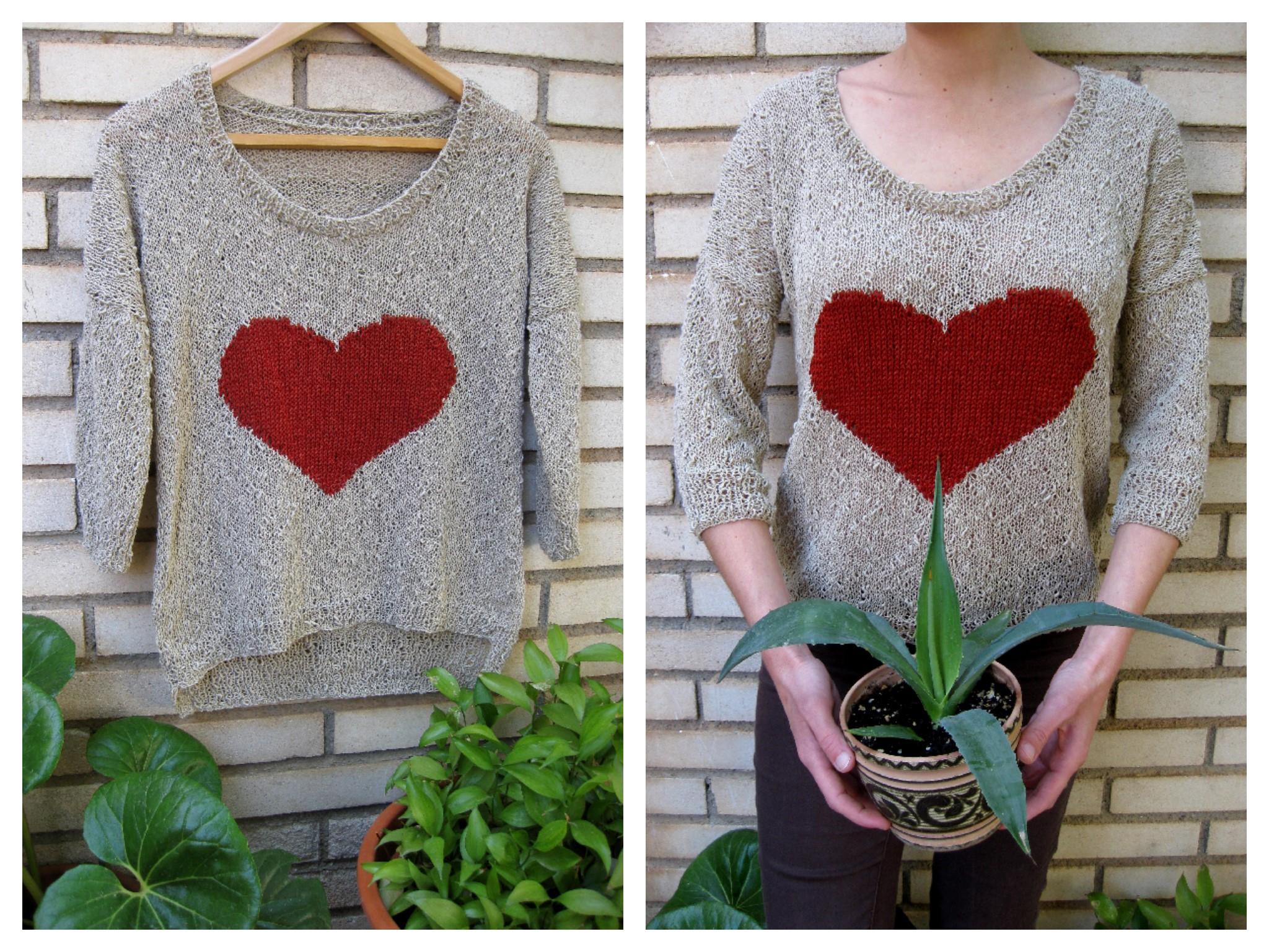 Jersey de primavera con patr n el hogar de las lanas - Patrones jerseys de punto hechos a mano ...
