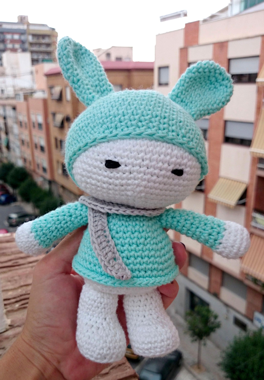 Conejo Kawaii Amigurumi Patron : Conejito amigurumi El Hogar de las lanas