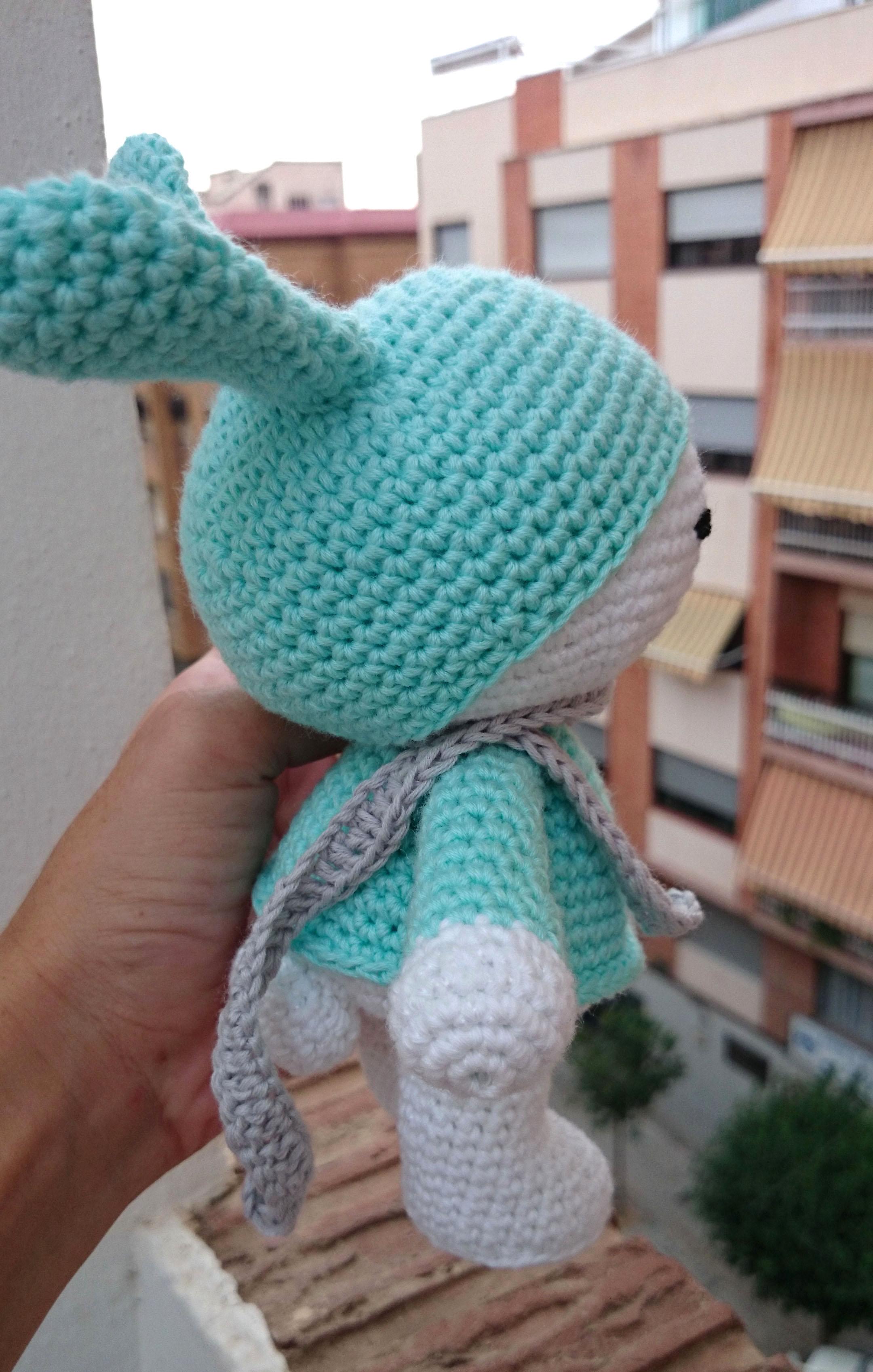 Conejito amigurumi El Hogar de las lanas